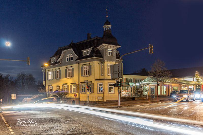 Stadt, Büttnerhaus, Nachtaufnahme