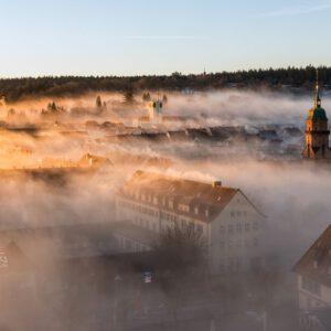 Freudenstadt, Sonnenaufgang, Nebel