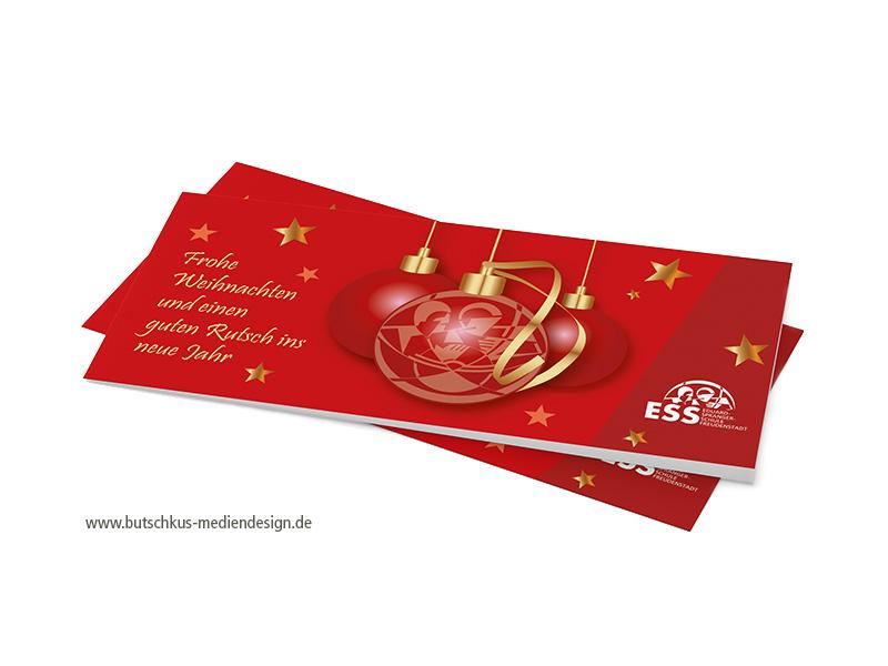 Printmedien Weihnachtskarte
