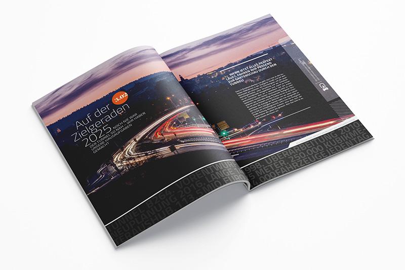 Foto-Doppelseite in Magazin
